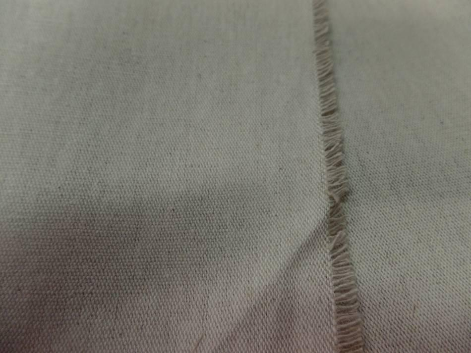 tissu Toile de lin bizonne supérieure calandrée a chaud 300 gr m² en 2.80m beige naturel