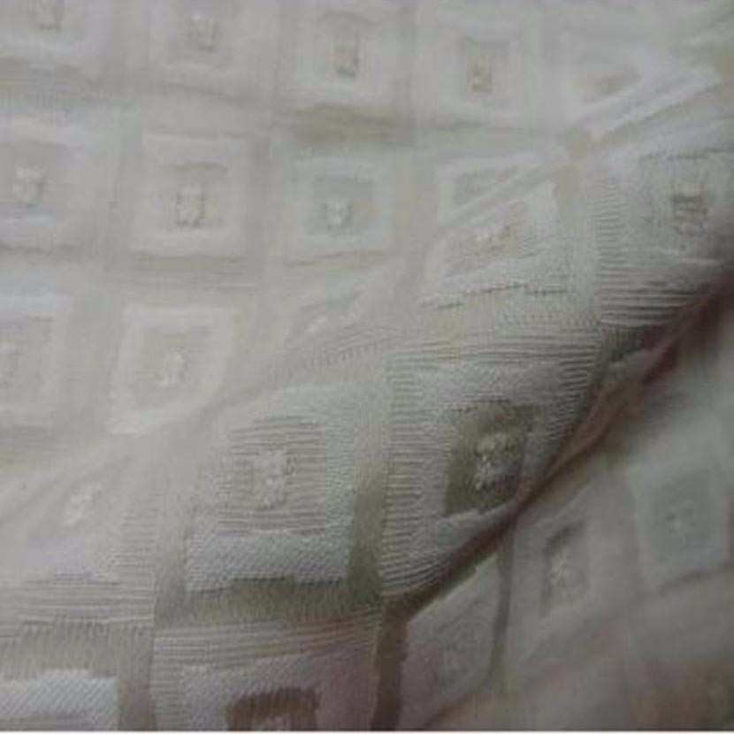 Toile coton d ameublement blanc casse faconne a motifs ton sur ton2