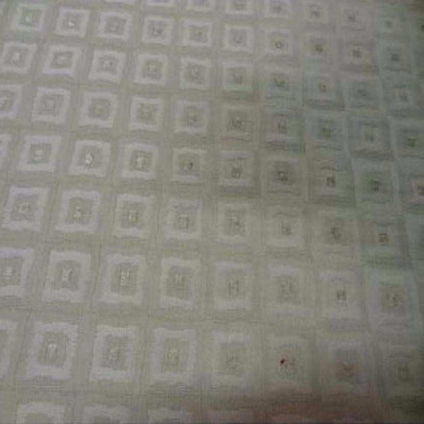 Toile coton d ameublement blanc casse faconne a motifs ton sur ton6