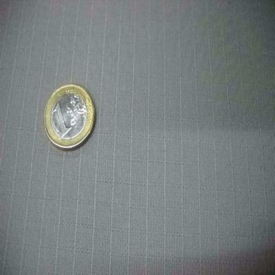 Toile coton gris clair a petit carreaux ton sur ton
