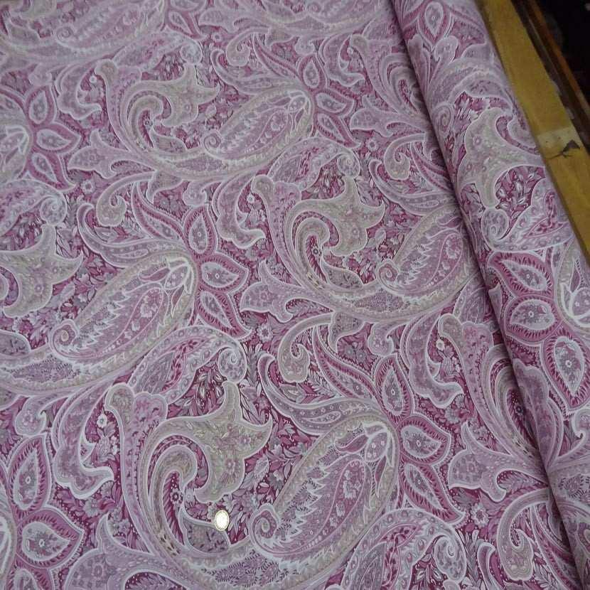 Toile coton imprime motifs cash mir ton rose4