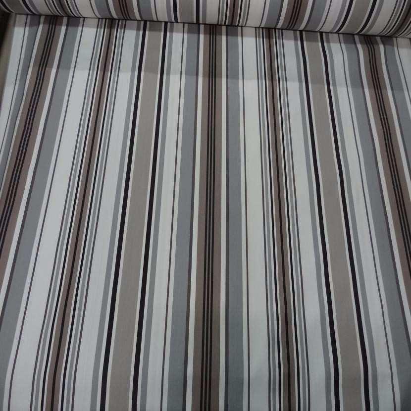 Toile coton imprime rayures aspect toile matelas