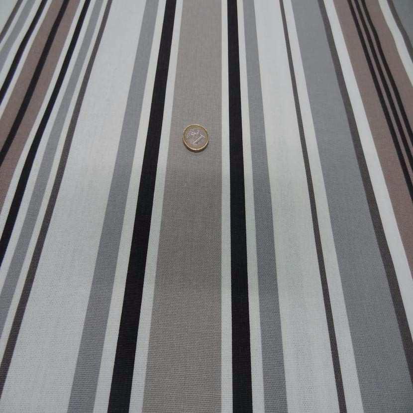 Toile coton imprime rayures aspect toile matelas2