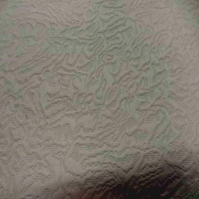 Toile d ameublement faconne en coton ecrue