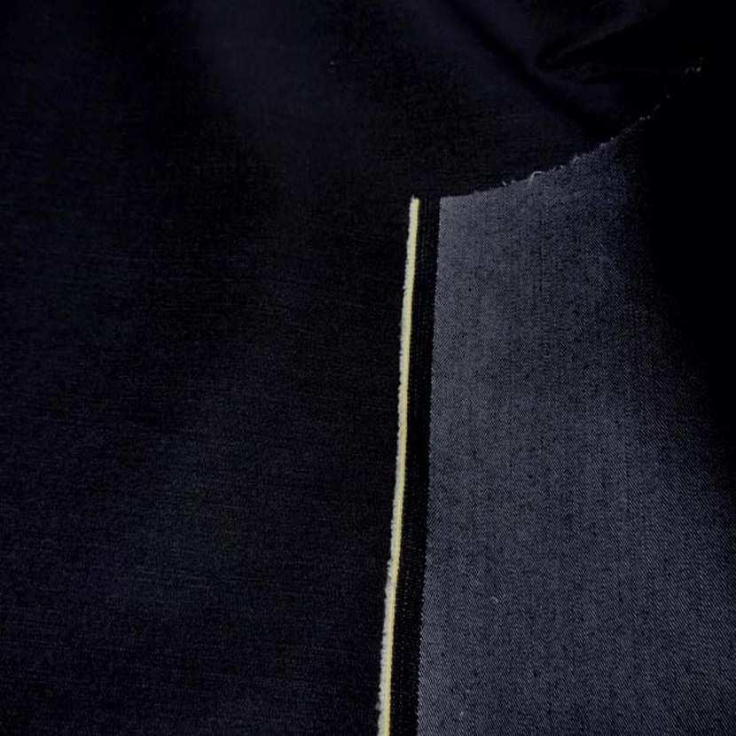 Toile de jean bleu nuit noir 4