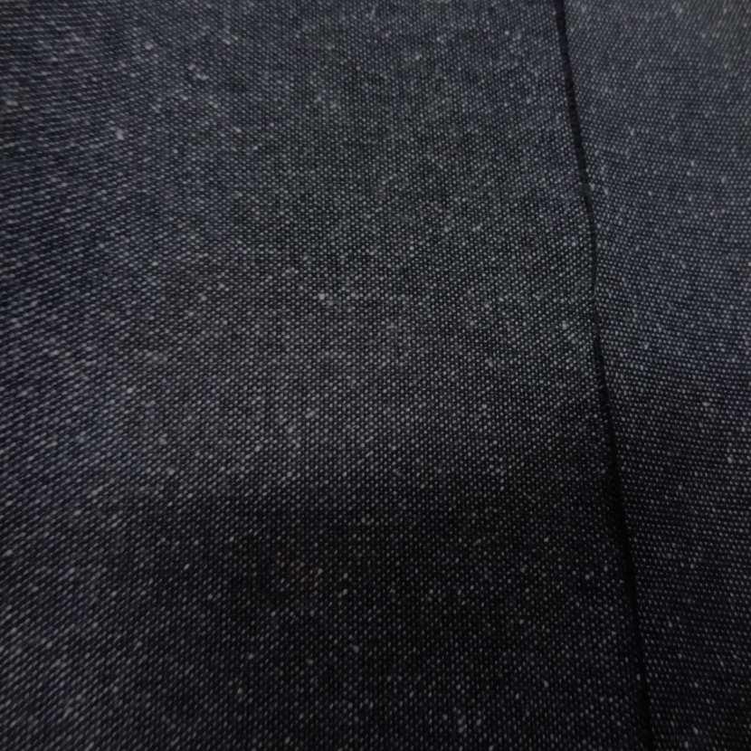 Toile de jean legere gris facon tweed