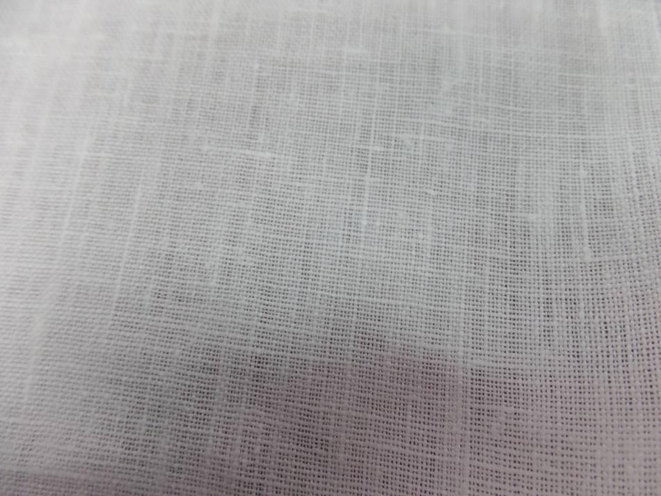 Toile de lin 100 ton blanc casse