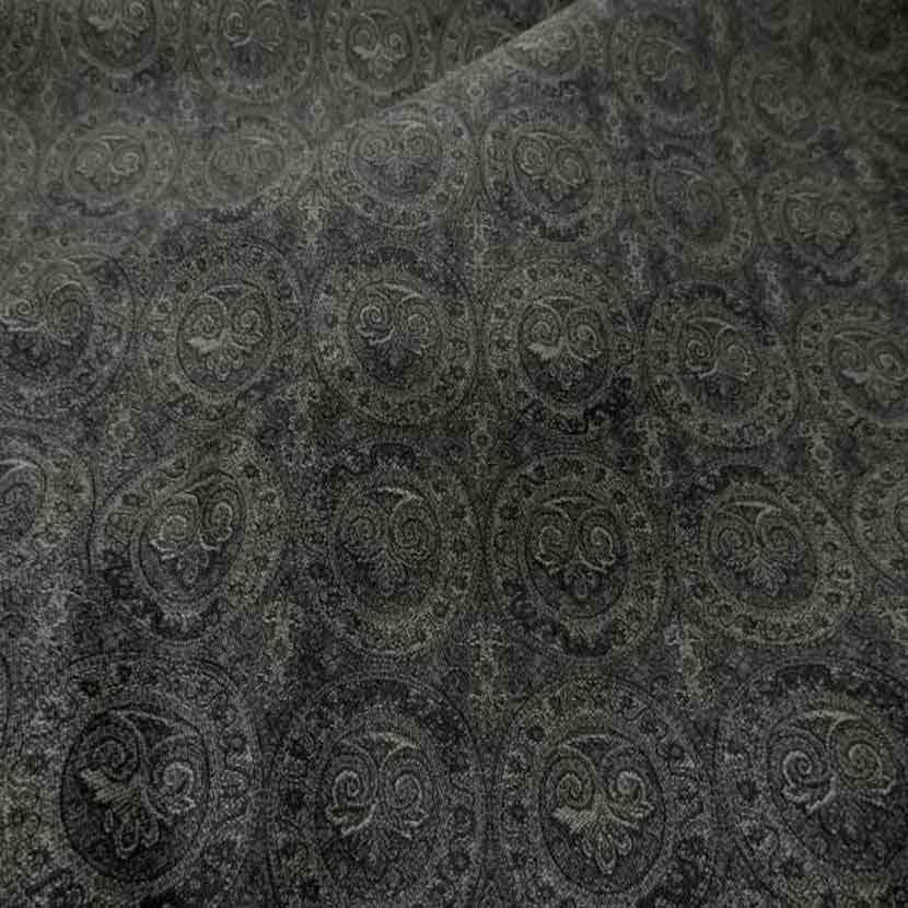 Toile en coton legere d ameublement motifs medaillons