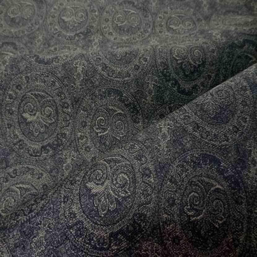 Toile en coton legere d ameublement motifs medaillons1