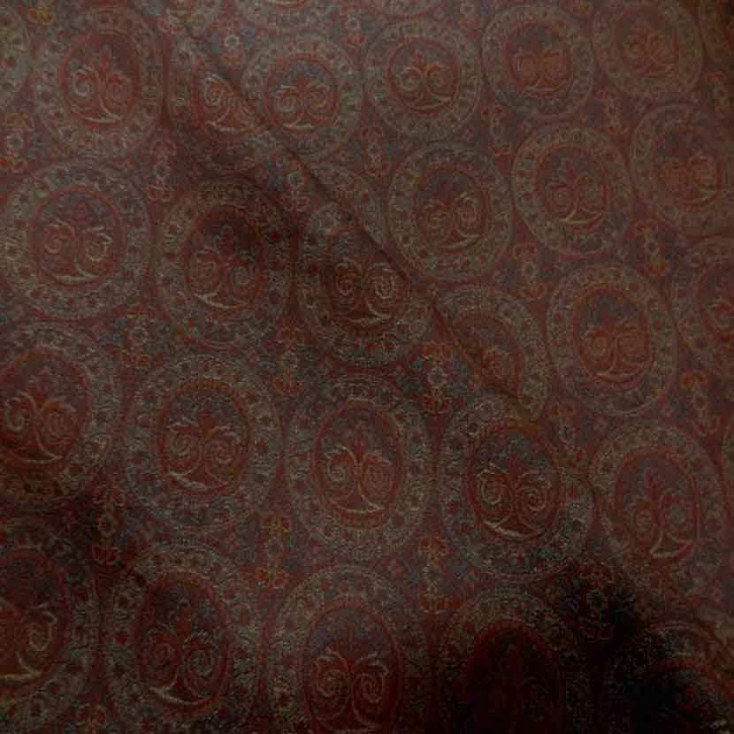 Toile legere d ameublement motifs medaillons