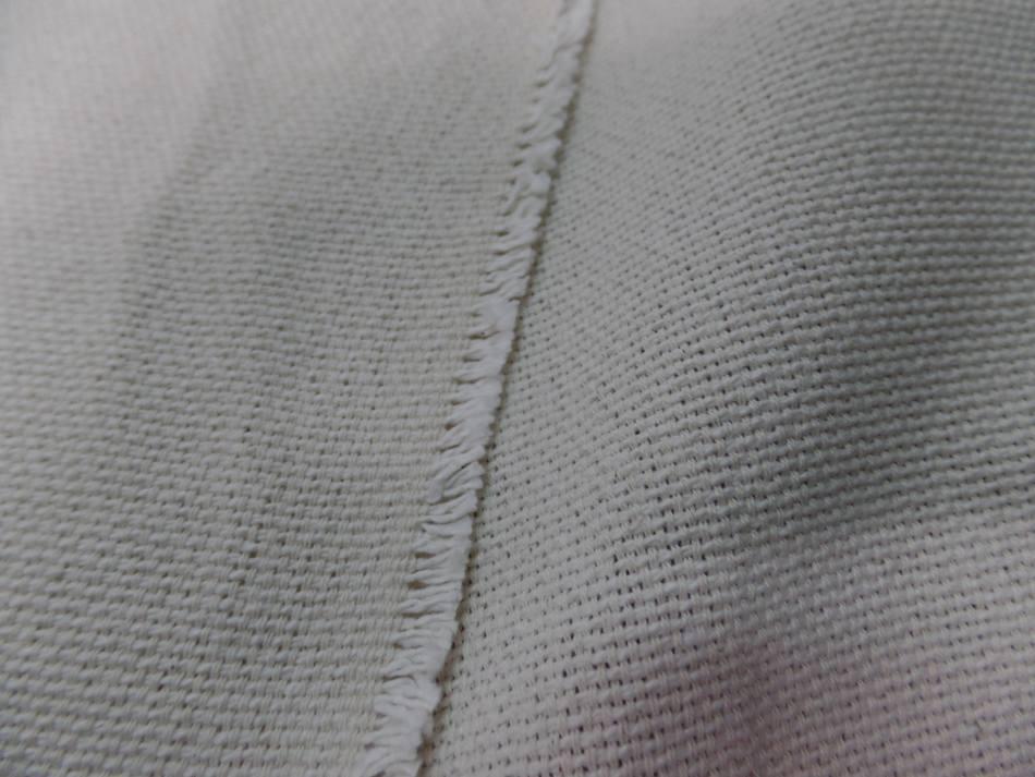 tissu Toile natté écrue 95% coton 5%lin 410 gr m² en 2.80 l en ligne