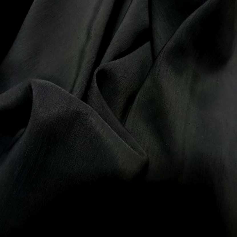 Tres beau dupions noir en polyester3