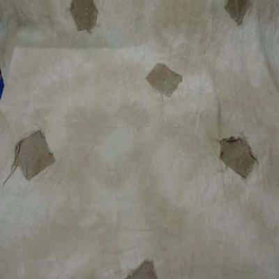 Tres beau lin faconne ton beige naturel avec rajout de tissus