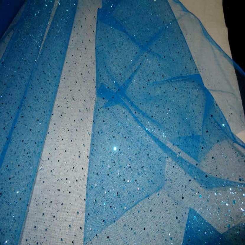 Tulle bleu a paillettes bleu2