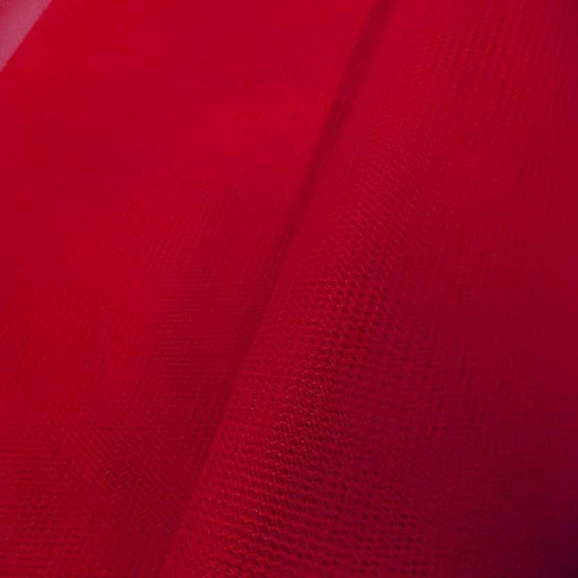 Tulle rouge en 1 40m de large