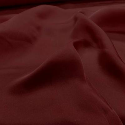 Twil de soie rouge bordeaux