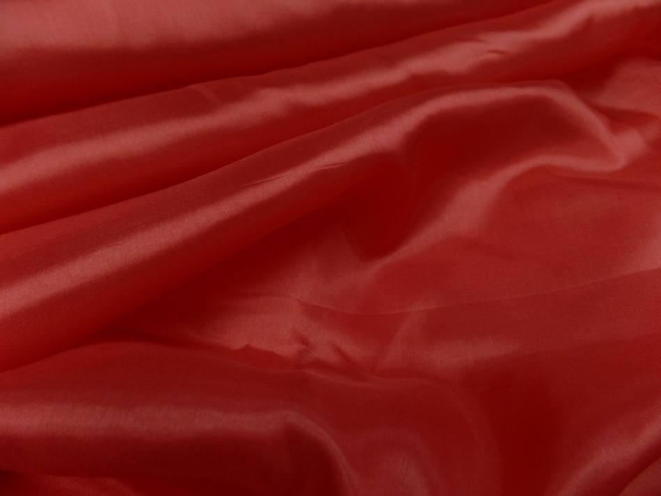 Twil de soie tres fin rouge vermillon0