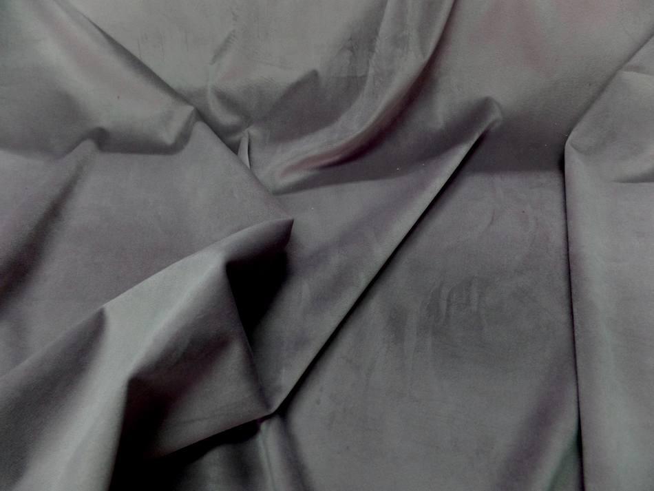 vente de tissu velours ameublement lisse gris reflets rose pas cher