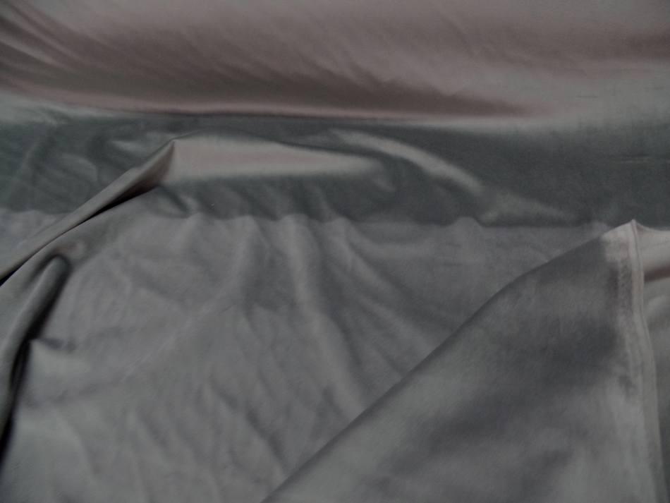 Velours ameublement lisse gris clair pas cher