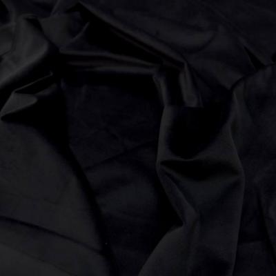 Velours ameublement lisse noir en 1 45m de large