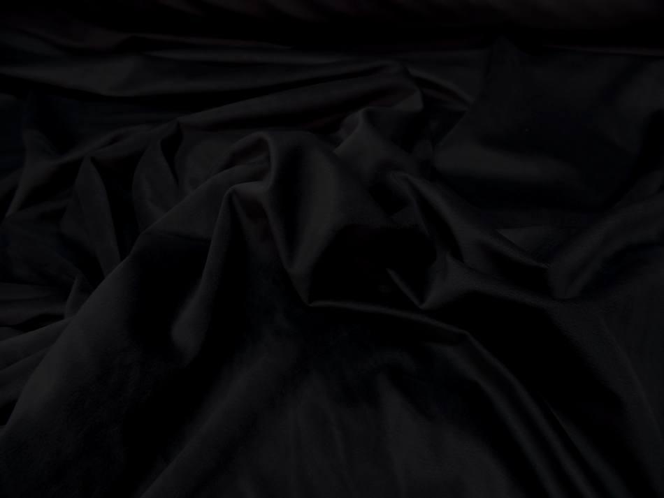 Velours ameublement lisse noir en 1 45m de large0