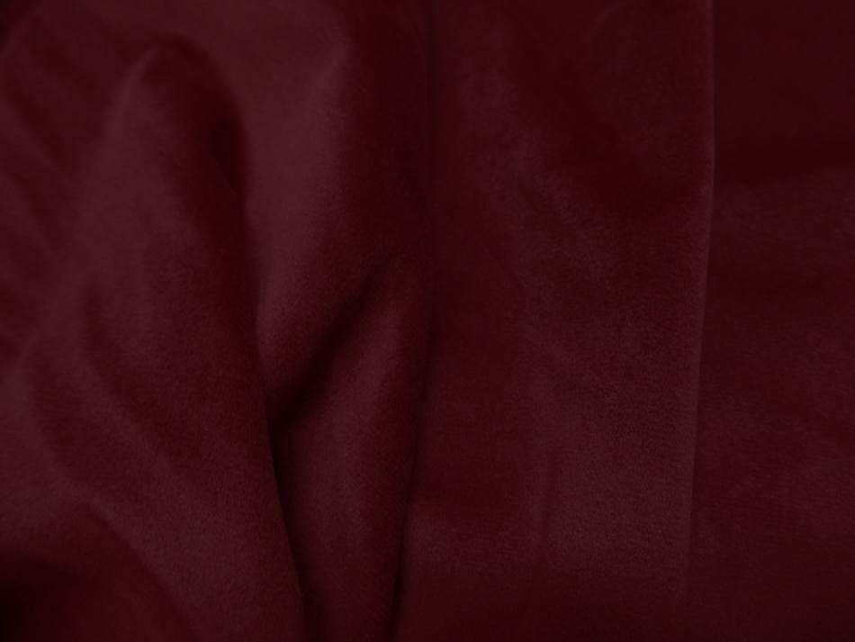 beau Velours ameublement lisse rouge bordeaux en 1 45m de large