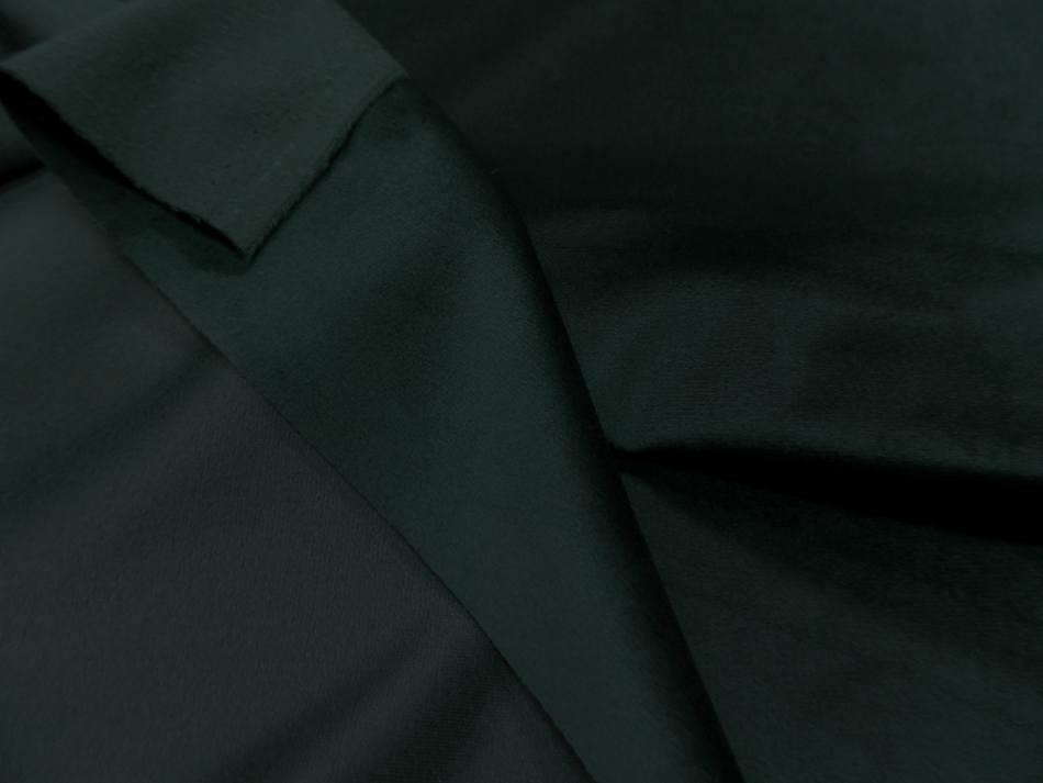 tissu velours ameublement lisse vert foncé
