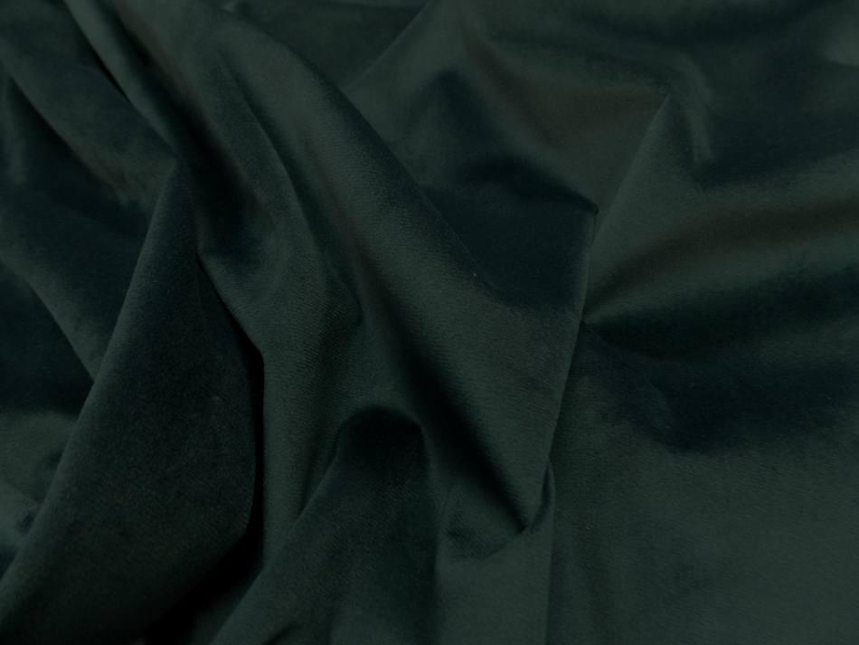 Velours ameublement lisse vert fonce