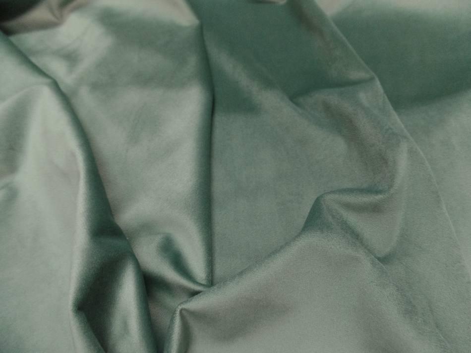 Velours ameublement lisse vert menthe en 1 45m de large