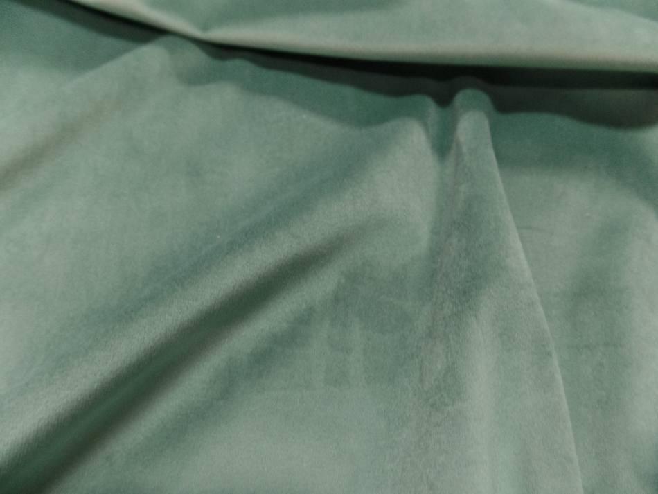 Velours ameublement lisse vert menthe en 1 45m de large5