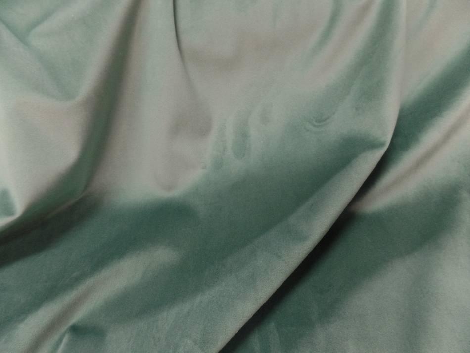 Velours ameublement lisse vert menthe en 1 45m de large9