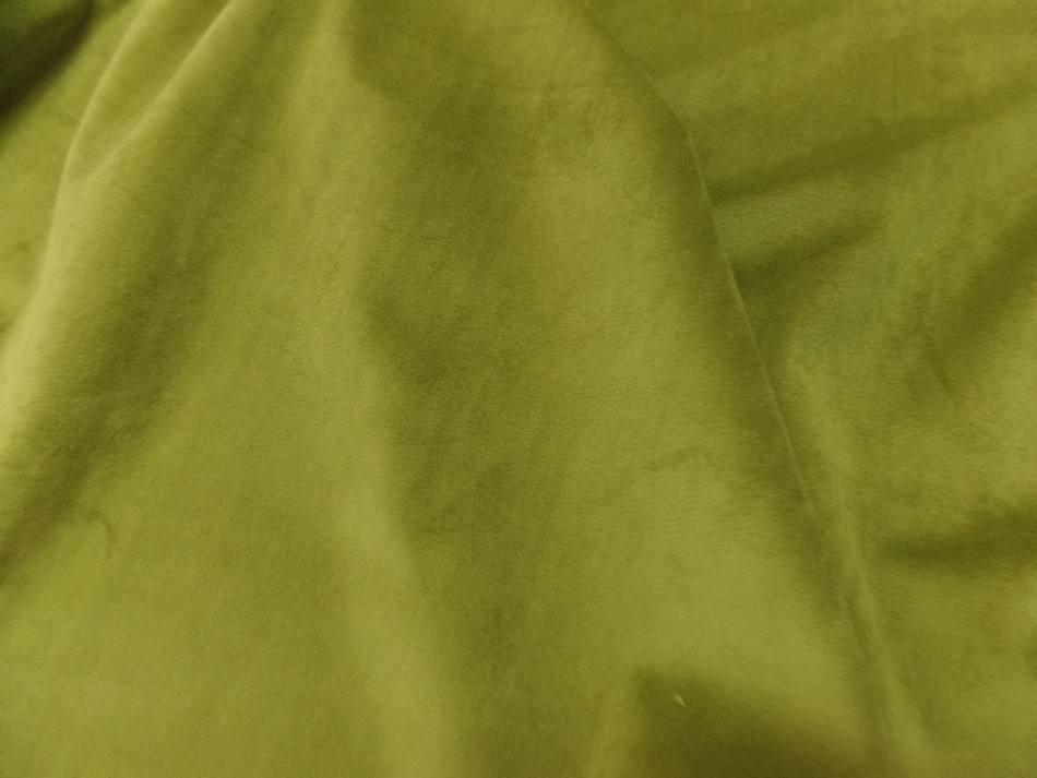 tissu velours ameublement lisse vert olive pas cher