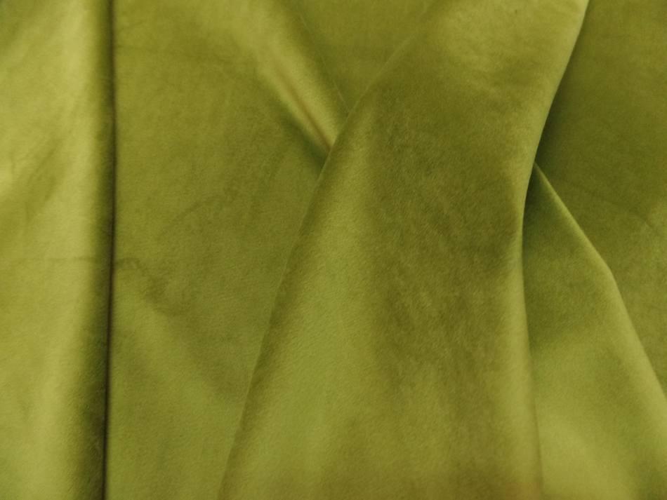vente de tissu velours ameublement lisse vert olive