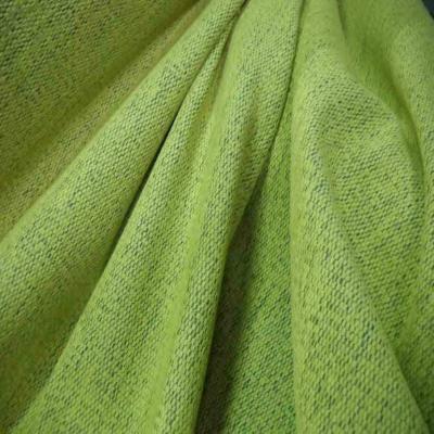 Velours coton d ameublement jaune clair et bleu