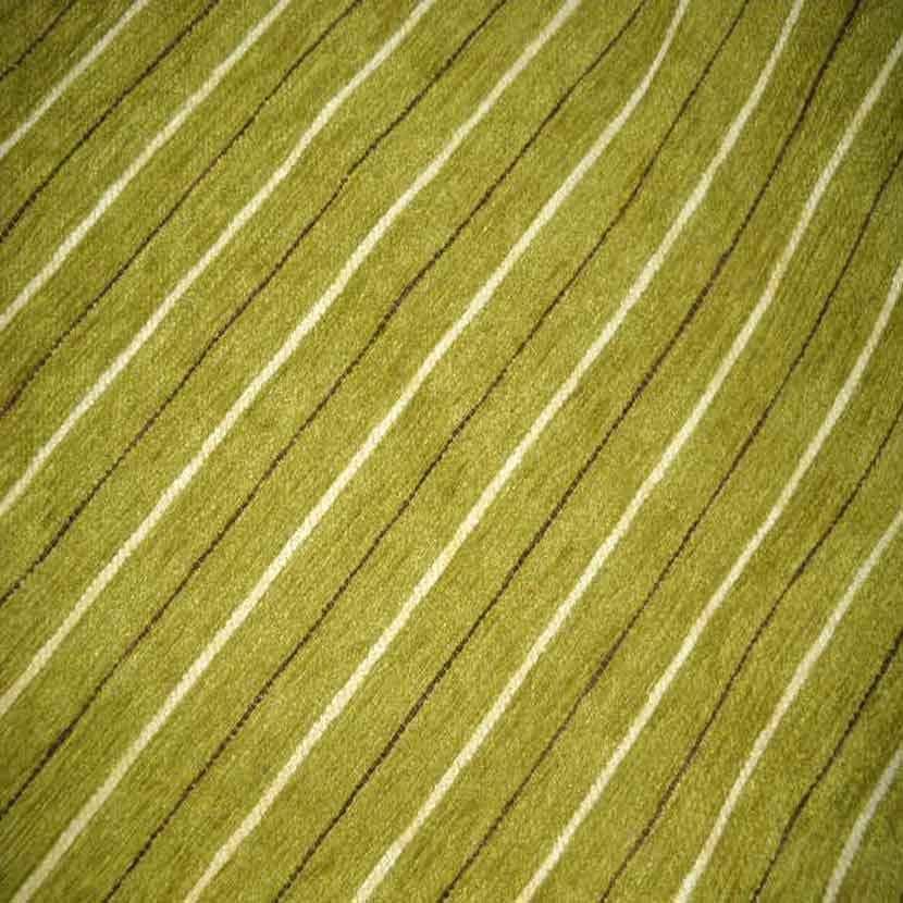 Velours coton d ameublement raye ton vert9