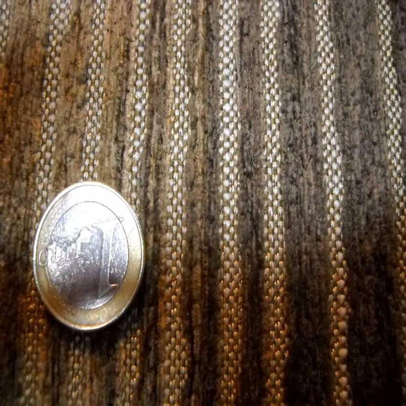 Velours coton pour l ameublement a rayures ton marron5