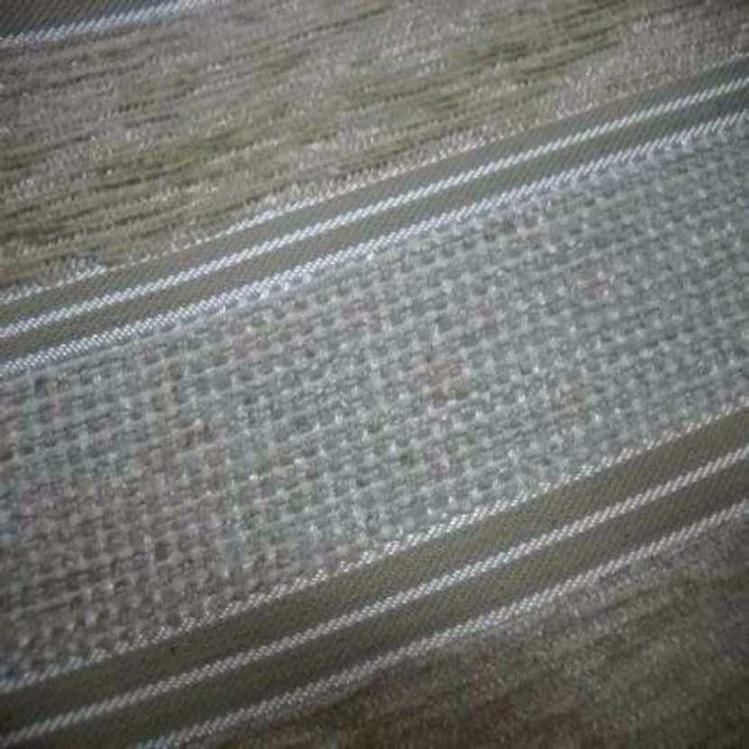 Velours coton pour l ameublement ton beige a rayures faconnees2