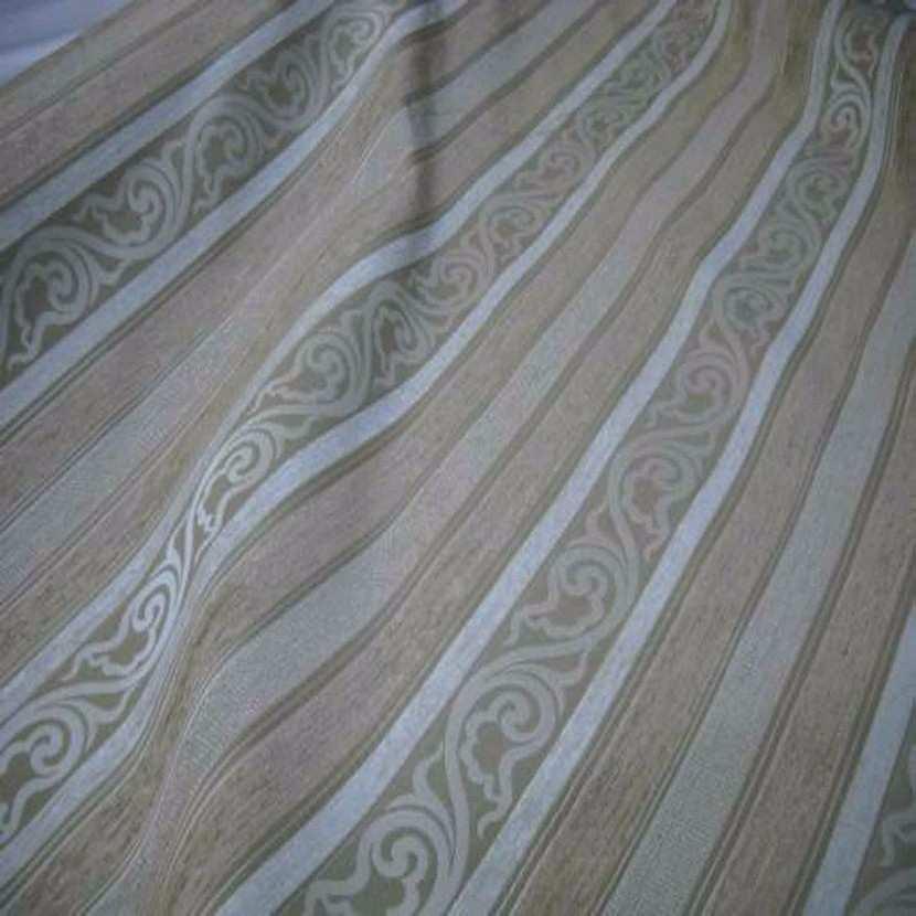 Velours coton pour l ameublement ton beige a rayures faconnees5