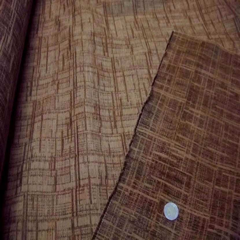 Velours coton pour l ameublement ton beige marron6