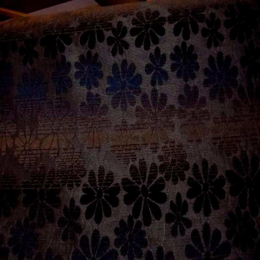 Velours coton pour l ameublement ton bleu marron2