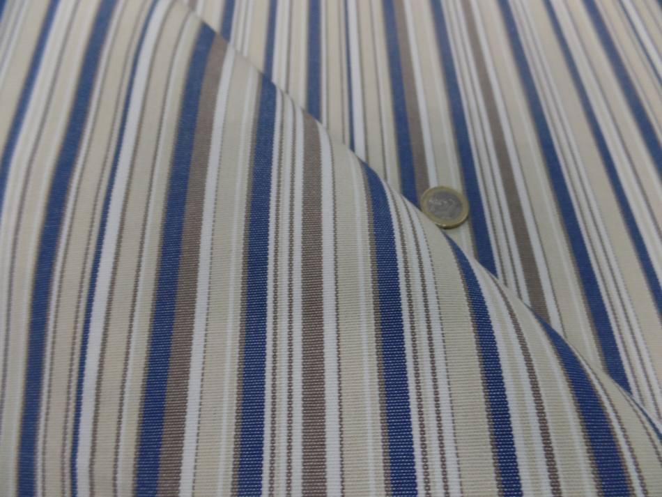 Vente de bache d exterieur en teflon a rayure blanc beige bleu et taupe