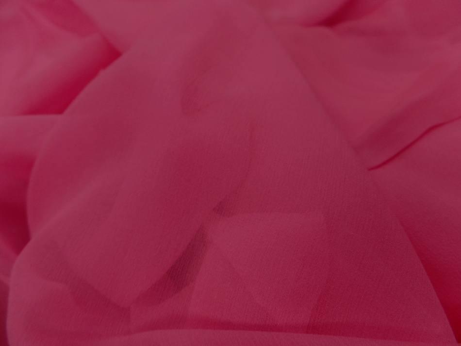 Vente de coupon de mousseline de soie rose 4m
