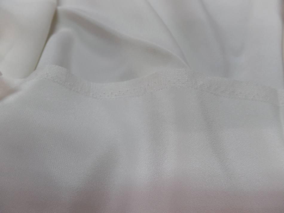 Vente de coupon de tissu beau crepe de soie blanc