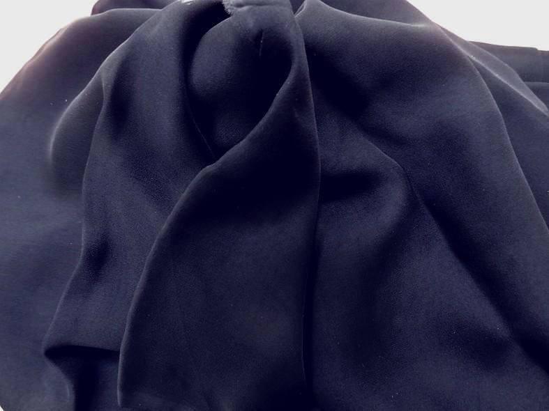Vente de mousseline de soie bleu marine en 1 15m de large pas cher 1