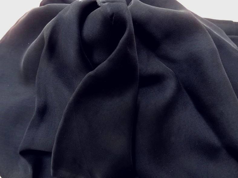 Vente de mousseline de soie bleu nuit en 1 15m de large pas cher 2