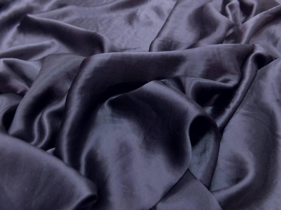 Vente de satin de soie bleu nuit en 1 37 m de large