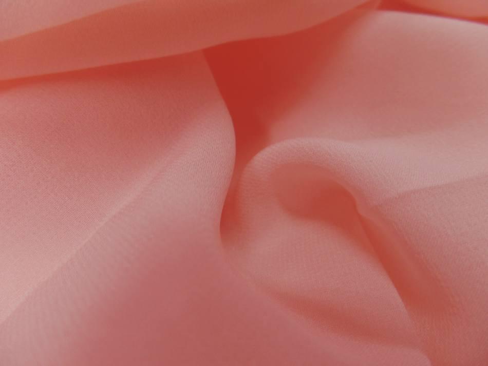 Vente de tissu coupon de crepe de soie fin ton rose clair 2 90m