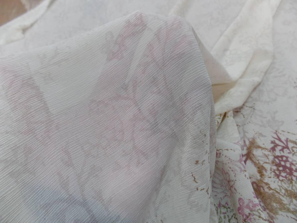 Vente de tissu crepon imprime beige clair sur marseille