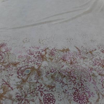 Vente de tissu crepon imprime beige clair