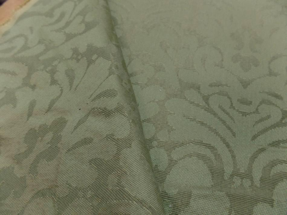 Vente de tissu epais d ameublement ton vert pas cher